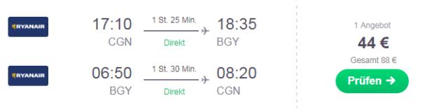 Flug Mailand