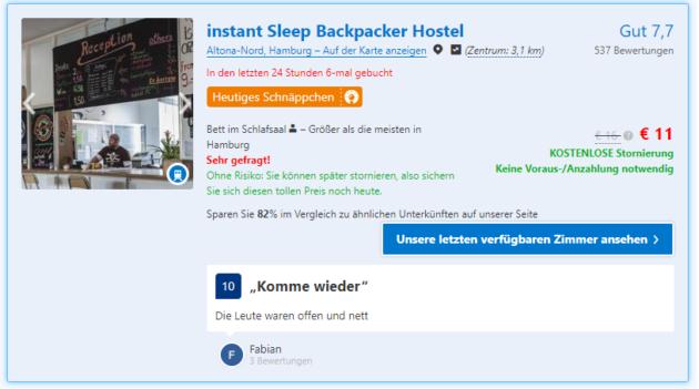 Hamburg im winter 2 tage in cooler unterkunft nur 11 for Coole hotels in hamburg
