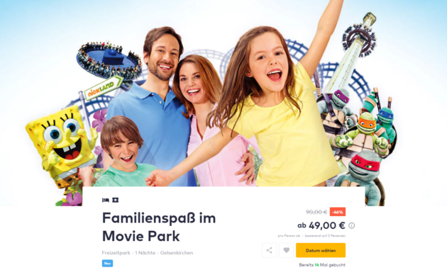 Movie Park Angebot