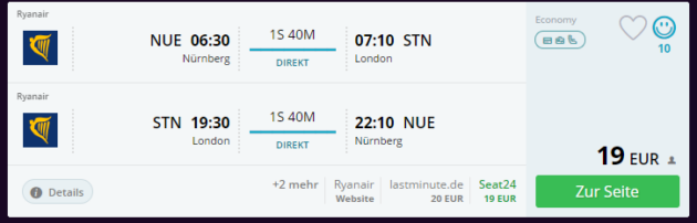 Flug London