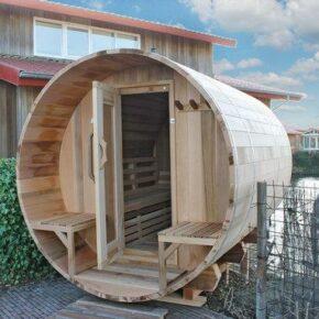 Holzfass Sauna