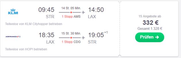 Stuttgart nach Los Angeles