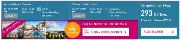 Amsterdam nach Cancun