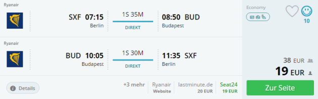 Budapest Flug