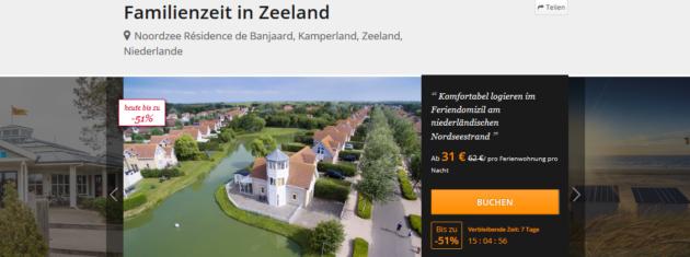 Ferienhaus Zeeland Angebot