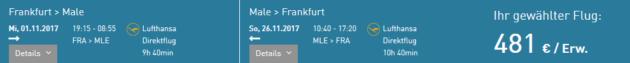 Flug Frankfurt Male