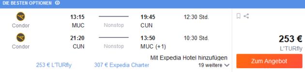 Flug München Cancun