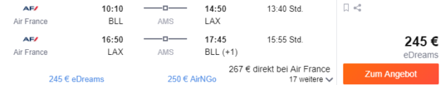 Flug nach Los Angeles