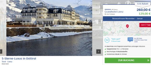 Tirol Grandhotel Lienz Luxus