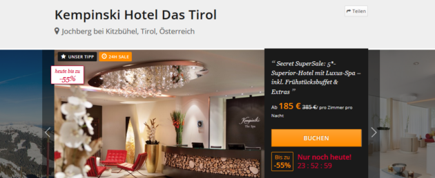 Tirol Luxus Wellness Angebot