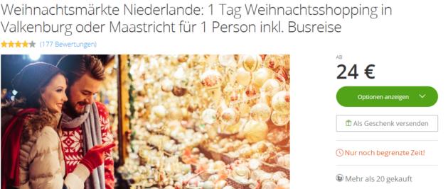 Weihnachtsmarkt Niederlande Angebot