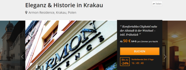 Wochenende Krakau Angebot