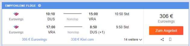 Düsseldorf nach Varadero