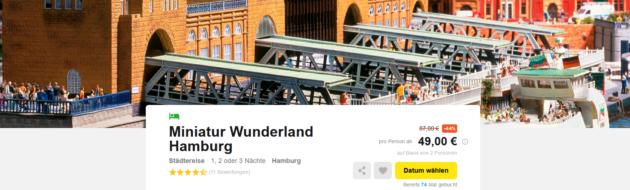 Miniatur Wunderland Hamburg Angebot