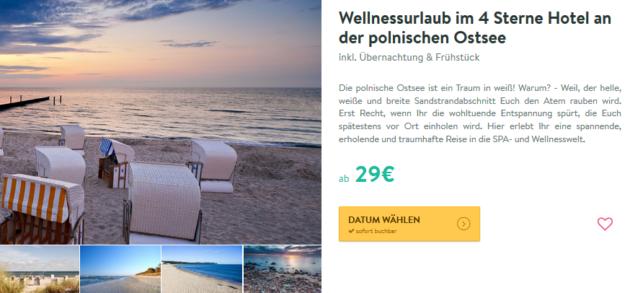 3 Tage Ostsee Wellness