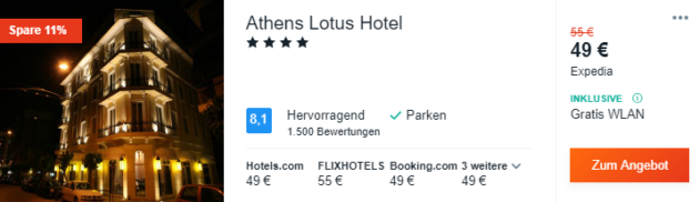 3 Tage Athen Hotel
