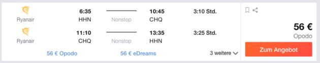 Flug nach Kreta