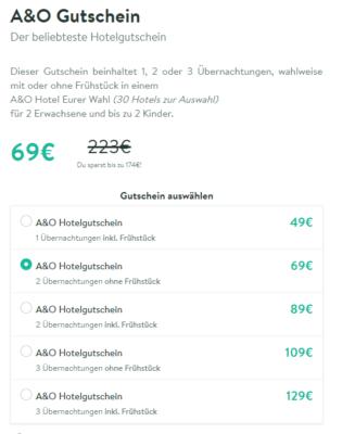 A&O Gutschein