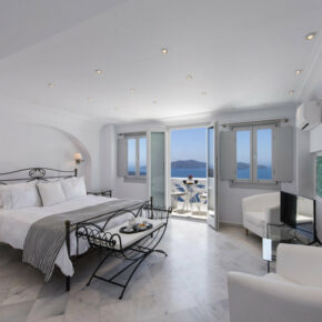 Athina Luxury Suites Schlafzimmer