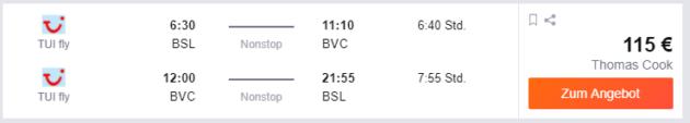 Basel nach Boa VIsta