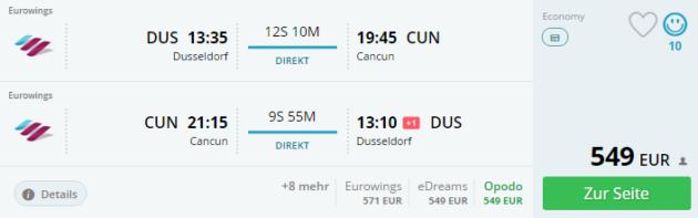 Düsseldorf nach Cancun