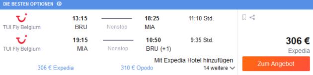 Flug Brüssel Miami