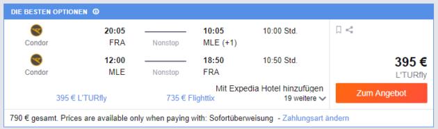 Frankfurt nach MLE