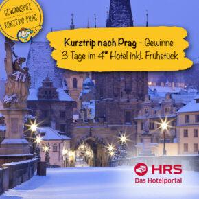**Gewinnspiel beendet** Gewinne einen Kurztrip nach Prag ins 4* Hotel inkl. Frühstück