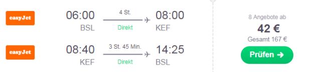 Island Flüge