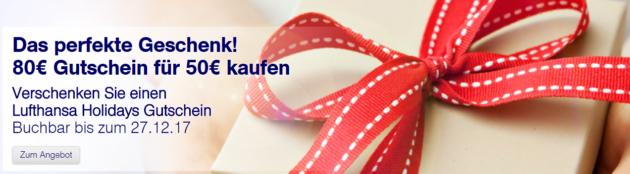 Lufthansa Holiday Gutschein