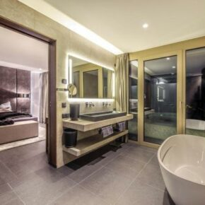 Luxus Ferienvilla Schlafen Bad