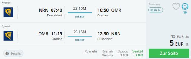 Oradea Flug