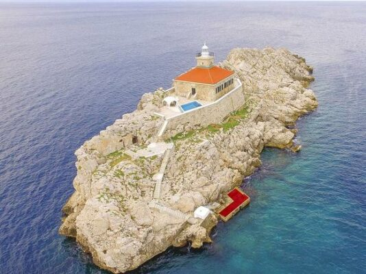 Villa Lighthouse Grebeni von oben