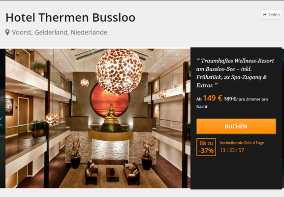 2 Tage Thermenhotel Bussloo