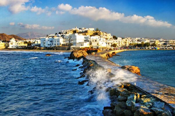 Greichenland Naxos Stadt
