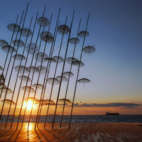 Griechenland Thessaloniki Sonnenuntergang