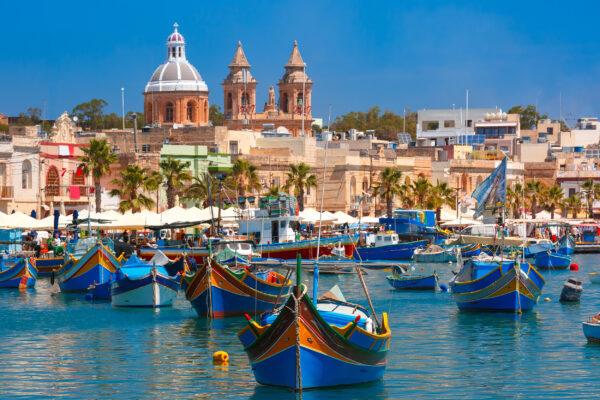 Malta Marsaxlokk Hafen