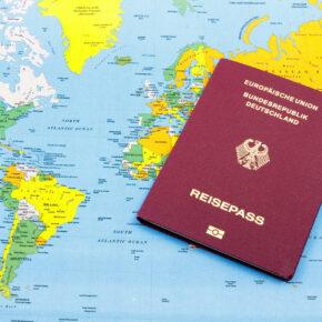 Reisepass Weltkarte