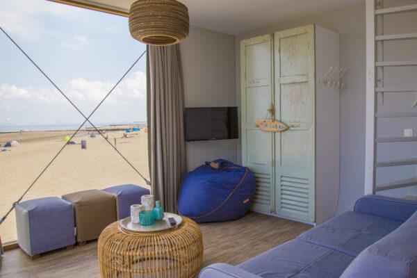 Strandweelde Strandhaus Wohnraum