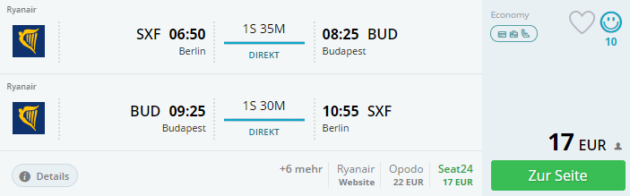 Berlin nach Budapest