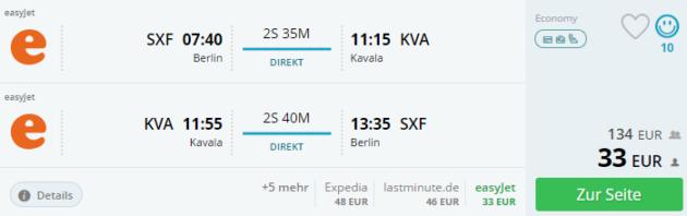 Berlin nach Kavala