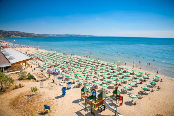 Bulgarien Sonnenstrand Schirme