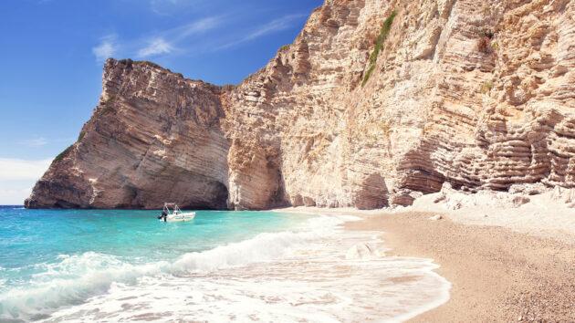 Korfu Beach Rocks