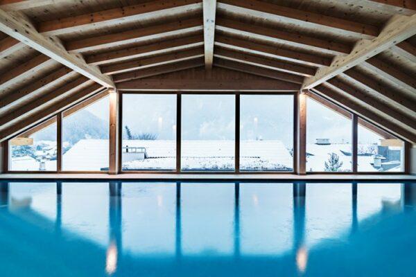 Drumlerhof Hotel Pool Aussicht