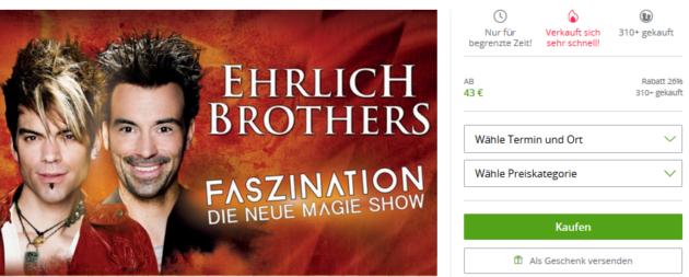 Ehrlich Brothers Angebot
