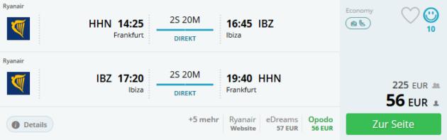 Flug Frankfurt Ibiza