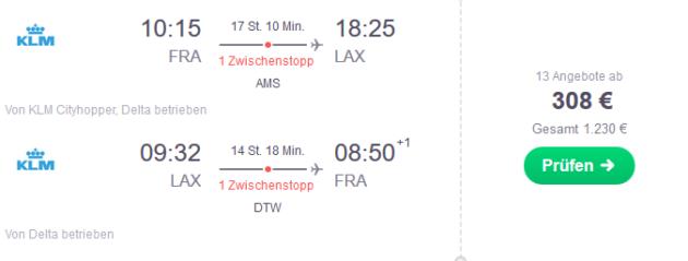 Flug Frankfurt Los Angeles