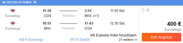 Flug Köln Bangkok