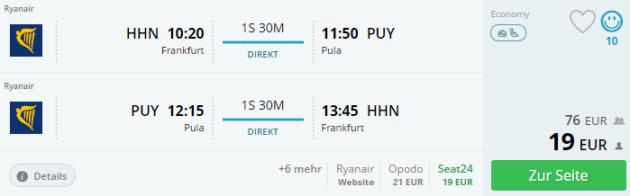 Flug Kroatien
