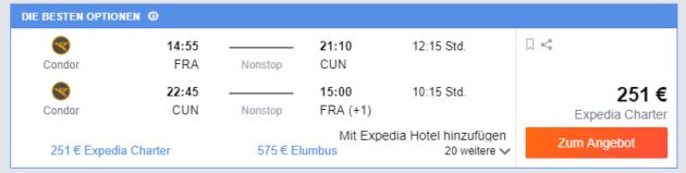 Frankfurt nach Cancun
